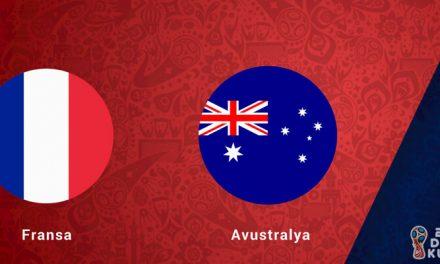 Fransa Avustralya Dünya Kupası Maçı Bahis Tahmini