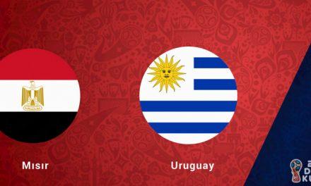 Mısır Uruguay Dünya Kupası Maçı Bahis Tahmini