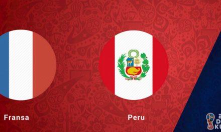 Fransa Peru Dünya Kupası Maçı Bahis Tahmini