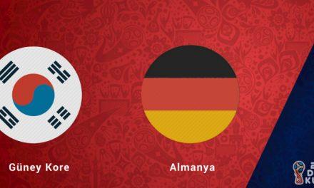 Güney Kore Almanya Dünya Kupası Maçı Bahis Tahmini