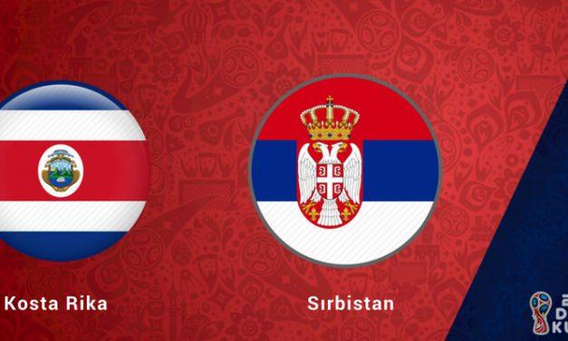 Kosta Rika Sırbistan Dünya Kupası Maçı Bahis Tahmini
