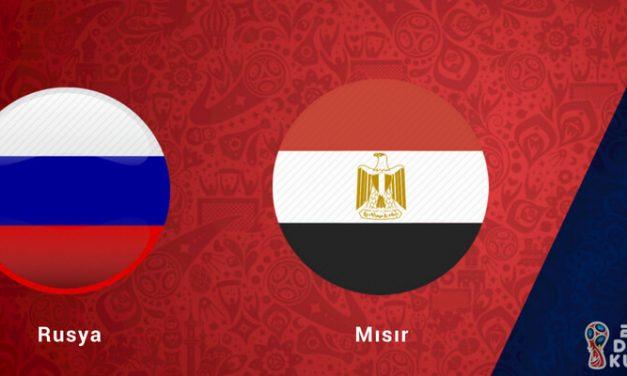 Rusya Mısır Dünya Kupası Maçı Bahis Tahmini