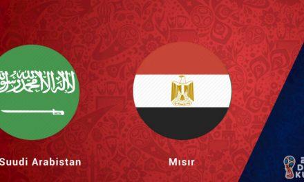 Suudi Arabistan Mısır Dünya Kupası Maçı Bahis Tahmini