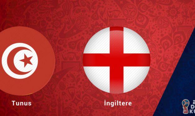 Tunus İngiltere Dünya Kupası Maçı Bahis Tahmini